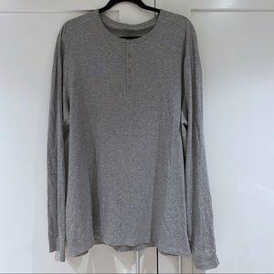 Vince Men's Long Sleeve Henley Shirt